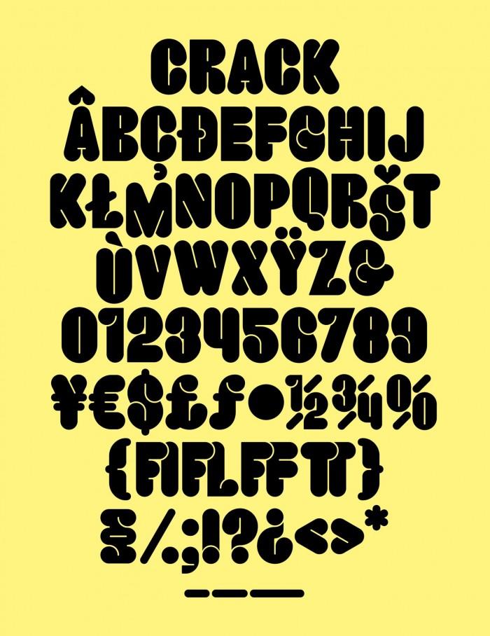 고유한 서체들(Unique Fonts) : Crack