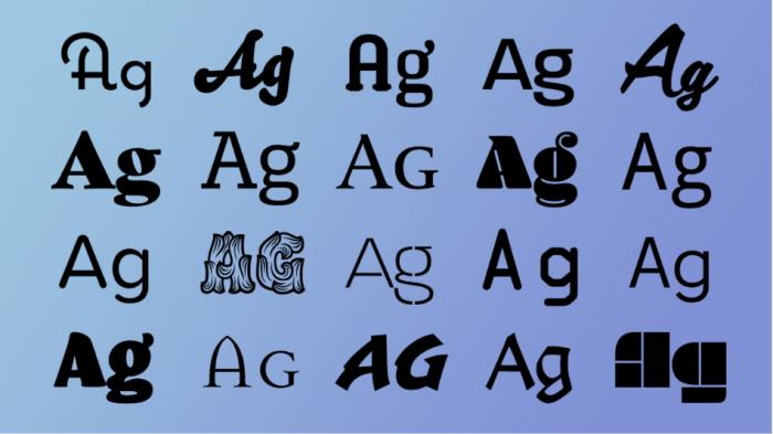 글꼴의 기능과 디자인에 적합한 글꼴 선택 방법
